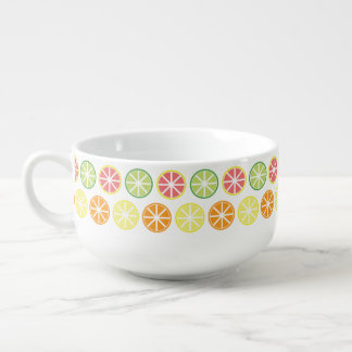 Citrus Pattern Soup Mug