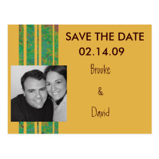 Citrus Photo Save the Date Postcard