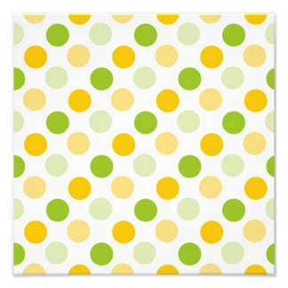 Citrus Polka Dots Photo Print