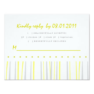 Citrus Response Card 11 Cm X 14 Cm Invitation Card