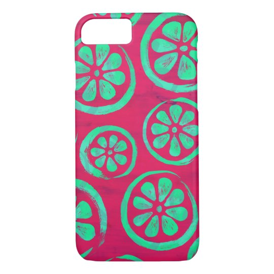 Citrus Slice Neon Mint iPhone 8/7 Case