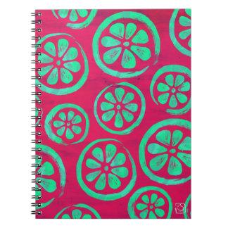 Citrus Slice Neon Mint Notebook