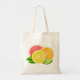 Citrus slices budget tote bag