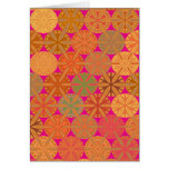 Citrus Slices Geometric on Pink Note Card