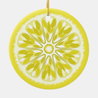 Citrus Slices Lemon Christmas Ornament