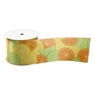 Citrus Slices Satin Ribbon