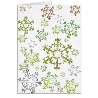 Citrus Snowflakes Card