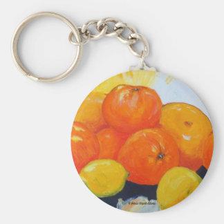 Citrus Splash II Basic Round Button Key Ring