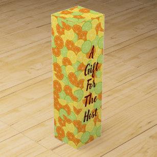 Citrus Splash Illustration Wine Gift Box