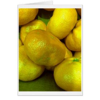Citrus Squash Greeting Card