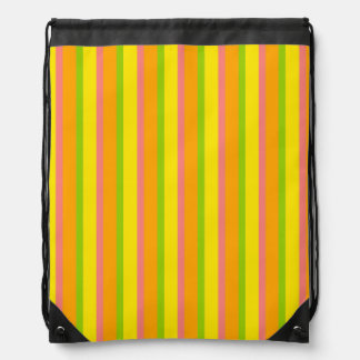 Citrus Stripe Classic drawstring backpack