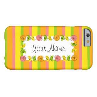Citrus Stripe Classic Name horizontal iPhone 6 Barely There iPhone 6 Case