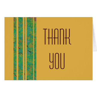 Citrus Stripe Thank You Note Greeting Card