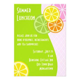 Citrus Summer Luncheon Personalized Invitations