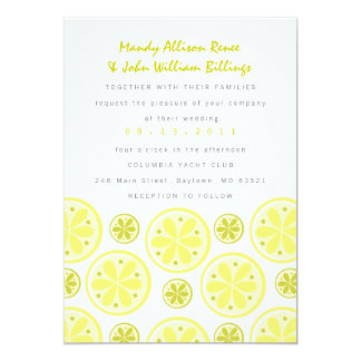 Citrus Wedding Invitation