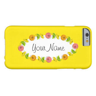 Citrus Yellow oval 'Name' horizontal iPhone 6 case