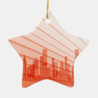 City Abstract Background Ceramic Star Decoration