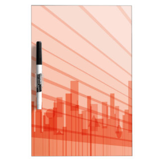 City Abstract Background Dry-Erase Boards