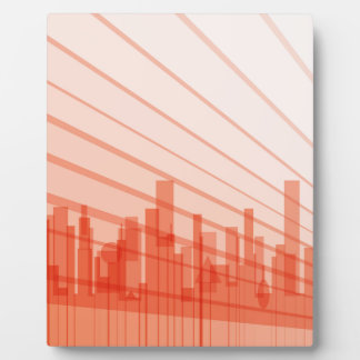 City Abstract Background Photo Plaque
