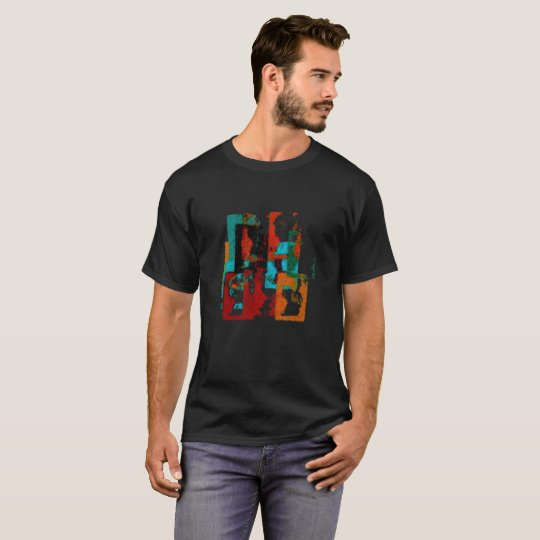City. Abstract Geometric Design With Fuzzy Texture T-Shirt