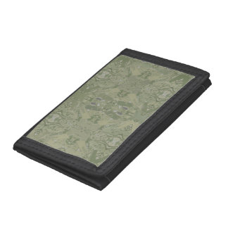 City Abstract in Olive Green 04 Tri-fold Wallet