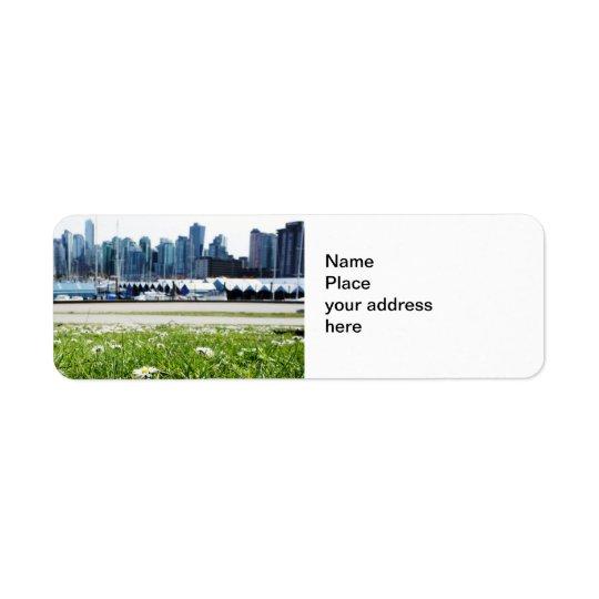 City Across the Bay return address label