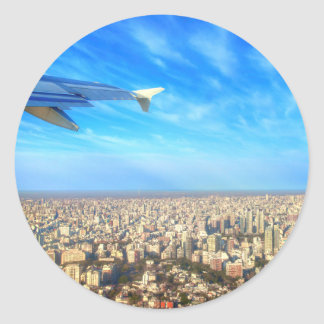 City airport Jorge Newbery AEP Round Sticker