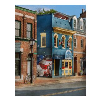 City - Alexandria, VA - King Street Blues 21.5 Cm X 28 Cm Flyer
