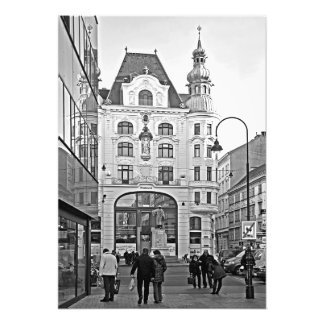 City and people photo print