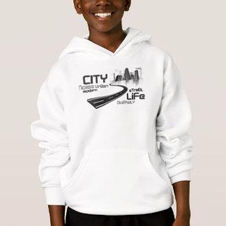 city artwork white t-shirt