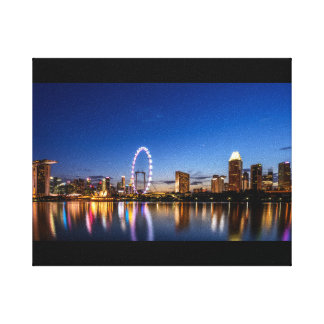 City at Dusk Canvas Print