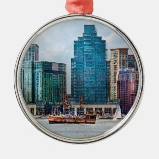 City - Baltimore MD - Harbor east Christmas Ornament