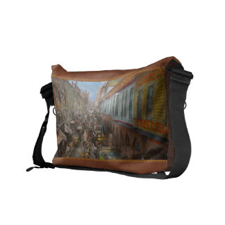 City - Baltimore MD - Traffic on light street 1906 Courier Bags
