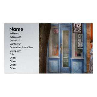 City - Baltimore MD - Waiting by Joe s bike shop Business Card Templates