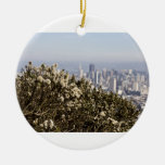 City Behind the Bushes Ornament
