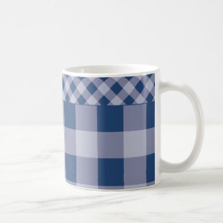 City Blue Gingham Coffee Mug