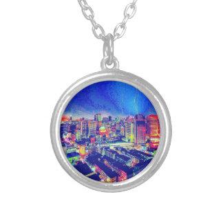 City Blues Round Necklace