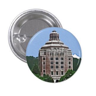 City Building Asheville NC Pinback Button