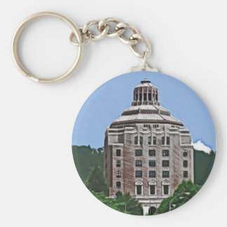City Building Asheville NC Keychains