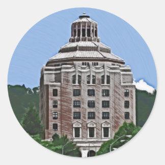 City Building, Asheville, NC Round Sticker
