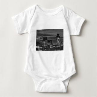 City Buildings in black and white Baby Bodysuit
