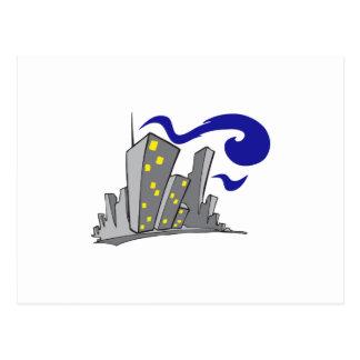 City Buildings Postcard