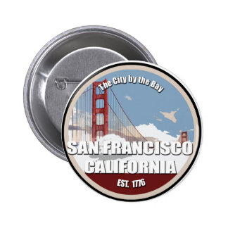 City by the bay, San Francisco California 6 Cm Round Badge