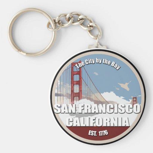 City by the bay, San Francisco California Key Chain