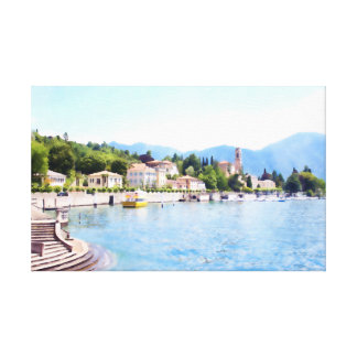 City By The Lake Canvas Print