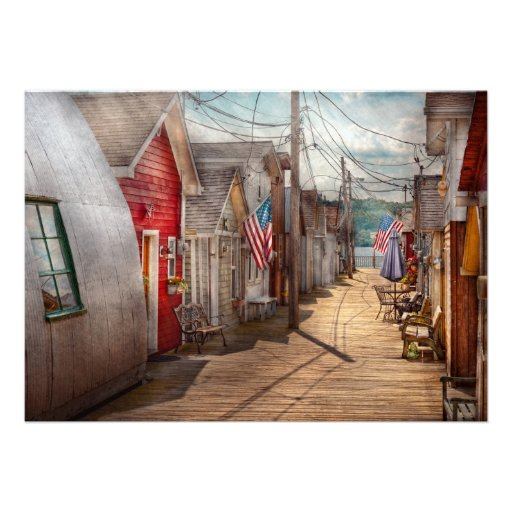 City - Canandaigua, NY - Shanty town Custom Invitation