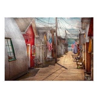 City - Canandaigua NY - Shanty town Custom Invitation