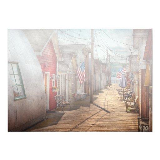 City - Canandaigua, NY - Shanty town Personalized Invitations