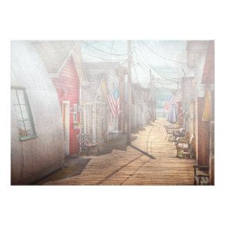 City - Canandaigua NY - Shanty town Personalized Invitations