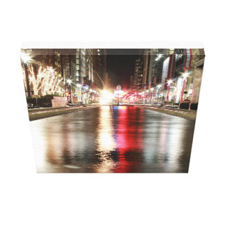 City candle canvas print